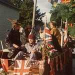 1977. Jubilee Celebrations Float. Andrea Stephens, Richard Hutchings, Caroline Pearce.