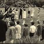 1965. St Veep Church Fete. Country Dancing.