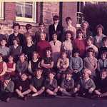 1967. Lerryn School group.<BR>Back Row: Mr Sillitoe, ?, Johnathan Pearce, Alan Brown, Derek Collings, Michael Irwin, Mrs Glanville, Mrs Taper.<BR>2nd Row: Colin Rowe, ? Stubbs, Annette Philp, Sue Todd, Anne Todd, Kathryn Irwin, Trudi Bryant, Andrea Stephens. Gina Watson, Duncan Hendry, Michael Casey.<BR>3rd Row: Tanya Hoskin, Dawn Brown, Bridget Bryant, ?,  Helen Todd, Trudy Searle, Caroline Pearce, Judy Watson, Morwenna Stead, Fenella Hoskin, Rosamund Eddy.<BR>Bottom Row: Simon Bryant, Graham Hoskin, Adrian Facey, Michael Irwin, ?, Simon Pellow, Hugo Montgomery Swan, Nigel Vincent, John Davey.<BR>