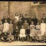 1920. Lerryn School Group Photograph.<BR><BR>Back Row L-R: Bill Luke, George Martin, Hector Stevens, Mabel Brewer, Phyllis Tubb, Jack Rolling, Gwynne Barrett, Bill Mutton, Rutland Keast, Norman Rollings<BR><BR>2nd Row L-R: Dorothy Roose, Adelaine Hoskin, Marion Fuller, Lily Jolliffe, Owen Martin, Ira Barrett, Mark Langmaid, Irene Lamin, Mildred Willcock, Annie Lock, Ivy Littleton, Maud Hambly<BR><BR>Front Row L-R: Tom Hawken, Dennis Tubb, Brice Hawken, Peter Willcock, ? Luke, Roy Barrett, Lily Mutton, Kenneth Harris, Dick Luke, Hiram Hoskin.<BR>