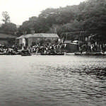 1920s. Lerryn Regatta. View to Lowertown from the Granary.