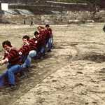 1980's. Lerryn Tug-o-War Team.