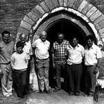 1989. St. Veep Church. Wedding Ringers. L - R: Ian Rounsevel, Jim Carter, Phillip Blake,  Herbert Hoskin, Kenwyn Pearce, Keith Langmaid, Front: Oliver Rounsevel.