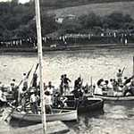 1950s	Lerryn, River, Regatta. Finish of the first-boat-up-on-the-tide race.