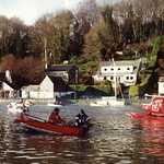 2000. Lerryn river. Seagull race. Start of the second leg.