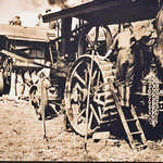 1920s?  Threshing.