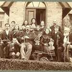 1920s. Lerryn String Orchestra, School House. Names but not precise location.Evelyn Yeo,Bertram May,Percy Bartlett,Mary Collett,Maud Burt,Frank Burt