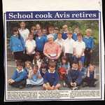 2001. Lerryn School, Last Day of Term.  Retirement of Avis Pearce, Cook at School