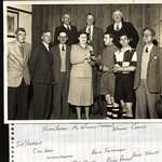 1950. Lerryn Institute, Cup presentation. Officials of Lerryn Football Team. Back Row: Lt-Rt. Hiram Hoskin, Mr Williams (Bradoc)Norma Cooms, Front Row: Lt-Rt: Sid Harfoot, Cyril Keast, Wilfred Martin, Mrs Olver, Dickie Pearce, David Sandercock, Ernie Jolliffe