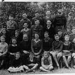 1948? Lerryn School Group Photograph.<BR><BR>Back Row L-R: Graham Hoskin, Peter Irwin, Brian Watson, Ivor Stephens, Michael Hawken<BR><BR>2nd Row L-R: Carl Langmaid, Maureen Roose, Terry Collett, George Keast, John Philp, Dennis Wilton, Graham Collett, Richard Phillips<BR><BR>3rd RowL-R: Doreen Phillips, Vivienne Honey, Joyce Keast, Rev. Kempthorne, Mrs. Alcock, Nadine Johns, Anthea Hoskin, Ginty Nevin, Christine Phillips<BR><BR>Front Row L-R: Fiona McCleod, Tony Jackson, Jennifer Hoskin.