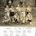 Late 50s. Nanpean Football Ground. Lerryn 2nd Football Team. Back Row, Lt-Rt. Terry Ashton, Terry Collett, Clifford Collings, Terry Keast, Brian Watson. Front Row: Roy Collings, David Rule, Terry Jackson, Graham Collett.