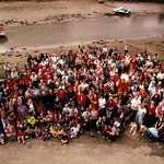 2000. Lerryn People. Group photograph from above the lime kiln.