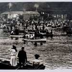 1890 Lerryn Regatta viewed from north bank across to Lowertown.