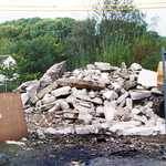 Sept. 1999.  Memorial Hall debris.