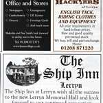 Cornish Guardian Notices. Malcolm & Sue Smith (Shop). Charlotte Richards (Harriers).